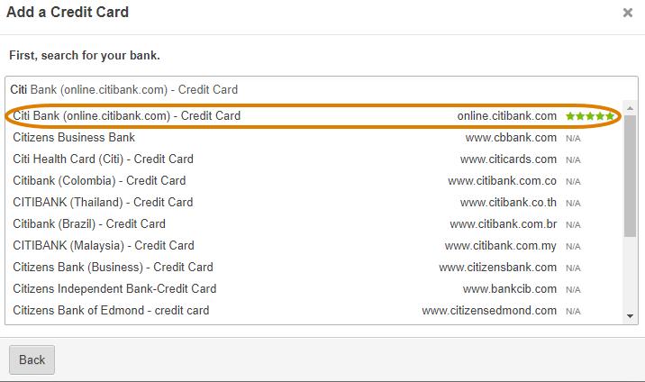Linking a Credit Card - Tallie